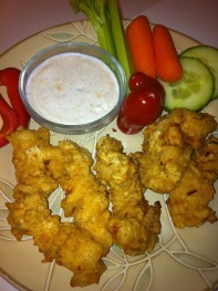 chicken veggies and dip