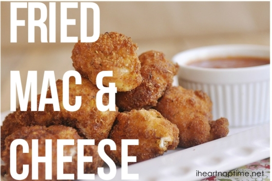 FRIED MAC & CHEESE. Recipe at http://bit.ly/1hVZIRK