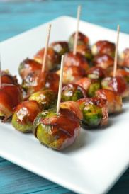 RECIPE: http://www.the-savvy-kitchen.com/2013/08/bbq-bacon-wrapped-brussels-sprouts.html#_a5y_p=1000360