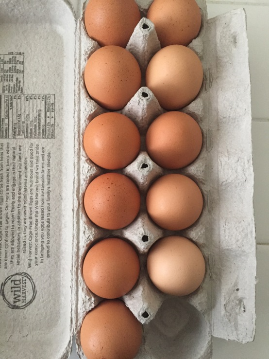 One dozen eggs = one week
