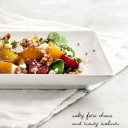 Roasted Beet Pear Walnut Salad