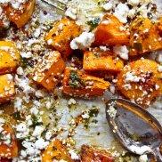 Roasted Pumpkin with Feta and Honey Salad